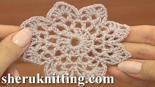 getlinkyoutube.com-Easy to Crochet Round Motif Tutorial 12 Part 1 of 2