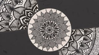 getlinkyoutube.com-Episode 2: A Black And White Mandala | Fancy Doodling