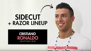 getlinkyoutube.com-Cristiano Ronaldo Hairstyle 2012 ★ Sidecut with razored partning ★ Men's hair inspiration