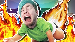 getlinkyoutube.com-BABY CAUGHT ON FIRE!! | Roblox