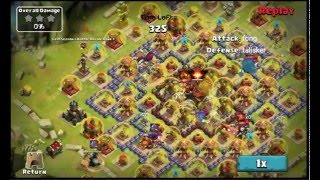 getlinkyoutube.com-Clash of Lords 2 - Wizards against Level 17 Town Hall and Level 30 Victory Statues