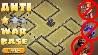 getlinkyoutube.com-Th9 WAR BASE | Anti 3 STARS ( GOVAHO & HGHB ) + REPLAYS | NEVER GOT 3 STARED! | Clash of clans