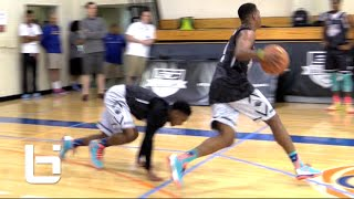 getlinkyoutube.com-CAN YOU GUARD Dennis Smith Jr. One On One? RAW Footage Highlights Stephen Curry camp