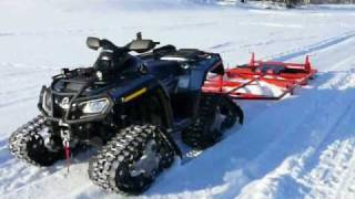 getlinkyoutube.com-Trail groomer and skiing track