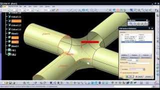 getlinkyoutube.com-Video Tutorial on Modeling Pipe Joint in CATIA