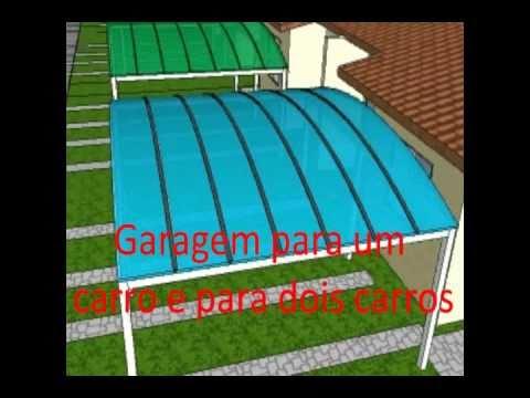 Policarbonato - Garagem em policarbonato Polysolution - apresentação em 3D