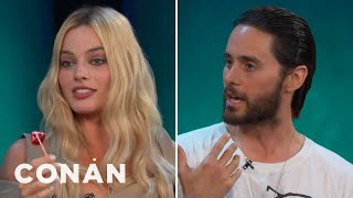 """Jared Leto & Margot Robbie Got Shaved Down For """"Suicide Squad""""  - CONAN on TBS"""