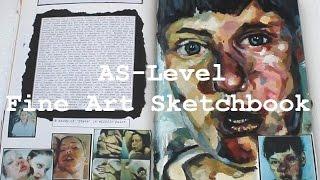 getlinkyoutube.com-AS Level Art Sketchbook - Grade A
