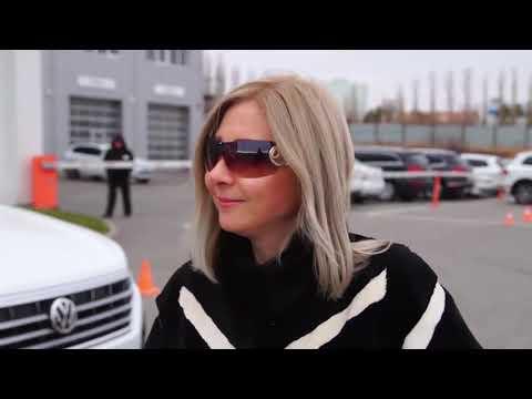 Как водят Volkswagen Tiguan брюнетка, блондинка и шатенка Волга-Раст