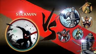 getlinkyoutube.com-Shadow Fight 2 Stickman | Stickman Vs All Bosses