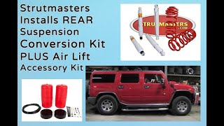 getlinkyoutube.com-2004 Hummer H2 With A Strutmasters Air Suspension Conversion (Total Install Video)