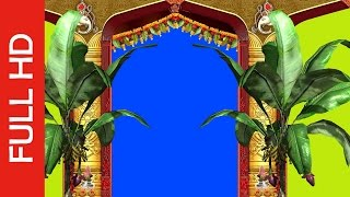 getlinkyoutube.com-Wedding Frame Blue/Green Screen Video