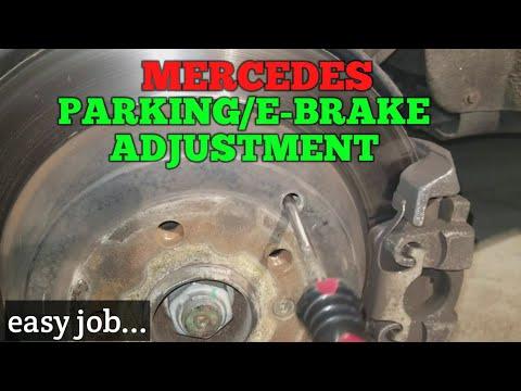 Mercedes Parking/Emergency Brake Adjustment