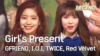 getlinkyoutube.com-Girl's Present (GFRIEND,I.O.I,TWICE,Red Velvet) [2016 KBS Song Festival / 2017.01.01]