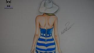 تعلم رسم فتاة بفستان صيفي بسيط للمبتدئين