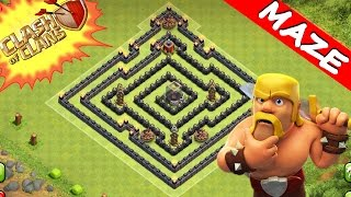 getlinkyoutube.com-Clash Of Clans | TRICKY MAZE BASE! | SUPREME TROLL / TRAP BASE 2015 (TH8)