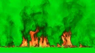 getlinkyoutube.com-Green Screen Fire Footage