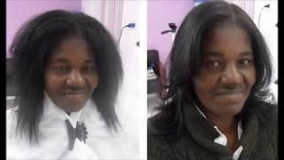 getlinkyoutube.com-Progressiva Maria Escandalosa em Cabelo Afro. Resultado do cabelo lavado