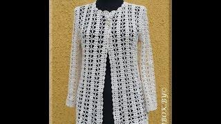 getlinkyoutube.com-crochet cardigan| free |crochet pattern| 412
