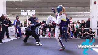 getlinkyoutube.com-Gina Thornton v Raelynn Perkins - Women's Sparring - New England Open 2015