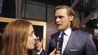 getlinkyoutube.com-Outlander Interviews: Caitriona Balfe, Sam Heughan, Tobias Menzies Attend the Midseason Premiere