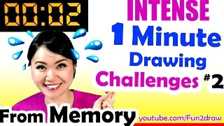 getlinkyoutube.com-Fast Art Drawing from MEMORY - 1 Minute to Beat REAL TIME Challenge