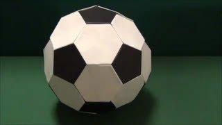 "getlinkyoutube.com-「サッカーボール」折り紙""soccer ball""origami"
