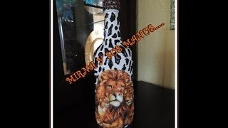 getlinkyoutube.com-RECICLANDO BOTELLA DE VIDRIO    ......Recycling glass bottle....