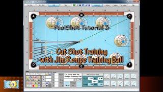 getlinkyoutube.com-Cut Shots with Jim Rempe Training Ball - PoolShot Free Version Tutorial #3 - Pool & Billiard