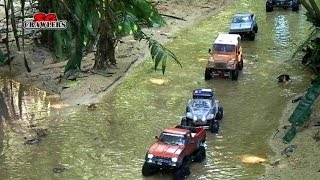 getlinkyoutube.com-RC4WD Trail finder 2 Axial SCX10 Honcho Rusty Bug honcho wraith at Durian Loop Trail part 2
