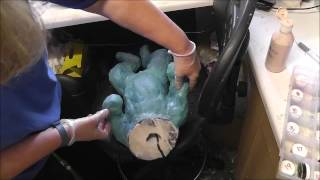 getlinkyoutube.com-Pouring and demolding a silicone baby doll