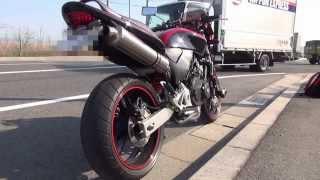 getlinkyoutube.com-ヤマモトレーシング社製 スリップオン シングル チタン@ホーネット250(Hornet250)_高回転Ver.
