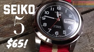 """Review: Seiko 5 SNKK35 Automatic Wristwatch """"Timeless Purity for $65"""""""