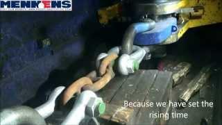 getlinkyoutube.com-Breakloadtest of 66mm anchor chain.
