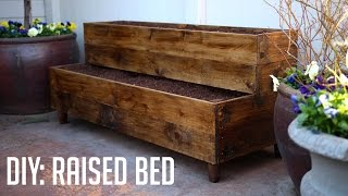 getlinkyoutube.com-DIY: Raised Bed Patio Planter