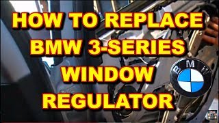 getlinkyoutube.com-Window Regulator Installation BMW 3 Series e46
