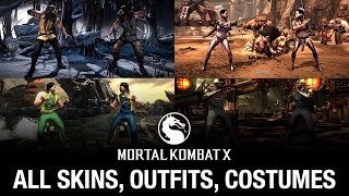 getlinkyoutube.com-Mortal Kombat X: All Skins / Outfits / Costumes (see description for update)