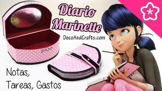 getlinkyoutube.com-Libreta de Tareas Diario de Marinette Miraculous Ladybug - DecoAndCrafts