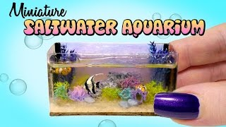 getlinkyoutube.com-Miniature Saltwater Aquarium Tutorial // DIY Dolls/Dollhouse