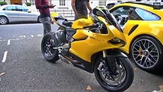 getlinkyoutube.com-Yellow Ducati 1199 Panigale w/Termignoni Exhaust!!