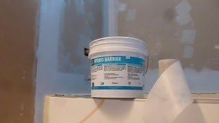 "getlinkyoutube.com-HOW TO waterproof  60"" tub surround walls before shower Tile installation- Laticrete Hydro  Barrier"