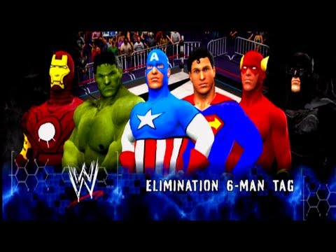 Avengers Vs Justice League [6 Man Elinimation Tag Match] - W