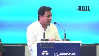 Minister ktr Speech Tata Boeing Aerospace