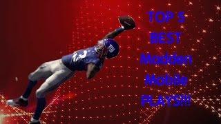 getlinkyoutube.com-Madden Mobile 16 #7 - Top 5 Best Offensive Plays in MM16!!