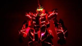 getlinkyoutube.com-【速報!】PG 1/60 RX-0 ユニコーンガンダム 完成報告!!早速光らせたらかっこよすぎたw  Unicorn Gundam
