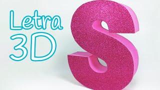 getlinkyoutube.com-Manualidades: LETRAS en 3D para decorar tu cuarto - Innova Manualidades