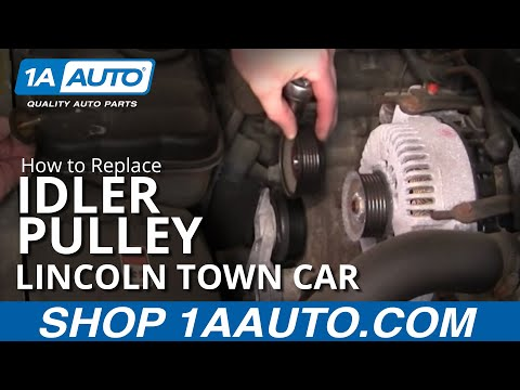 How to Replace Idler Pulley 91-99 Lincoln Town Car