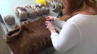 getlinkyoutube.com-DIY Tutorial: How to Make a Ralph Lauren Fringed Scarf on Addi Express King Size Knitting Machine