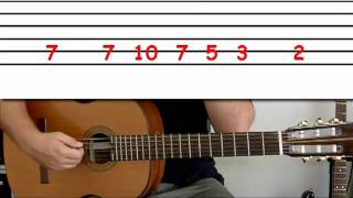 Guitar lesson 2F : Beginner -- 'Seven nation army' on one string