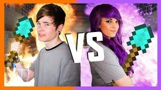 getlinkyoutube.com-DanTDM v AshleyMarieeGaming - Round 2 - Minecraft: 1v1 | Legends of Gaming